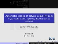 Automatic testing of solvers using PyFoam - If your ... - OpenFOAMWiki