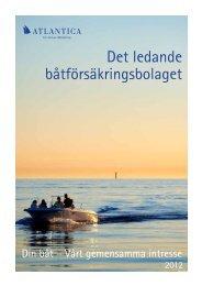 Det ledande båtförsäkringsbolaget - Atlantica