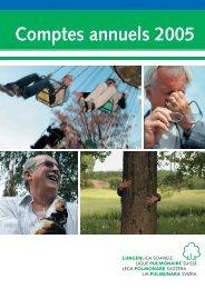 Comptes annuels 2005 - Ligue pulmonaire