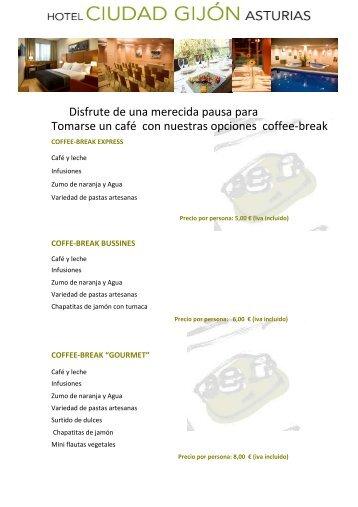 Coffee-breaks (pdf) - Hoteles Silken