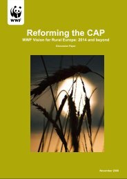 Reforming the CAP WWF Vision for Rural Europe after 2013