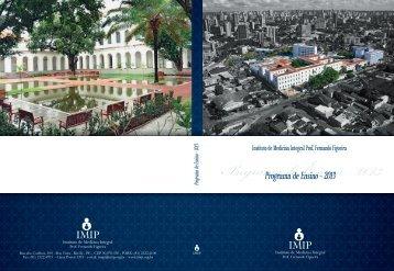 Confira o novo Programa de Ensino 2013. - Imip