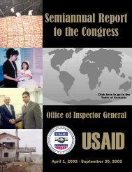 Semiannual report to the congress April 1, 2002 - September 30, 2002