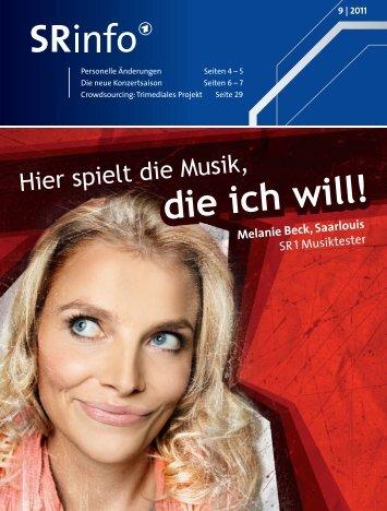 Melanie Beck, Saarlouis SR 1 Musiktester - Saarländischer Rundfunk