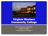 ADJUNCTS - Virginia Western Community College