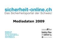 Mediadaten 2009 - sicherheit-online Homepage