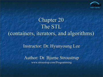 Ch.20 Containers and Iterators - TAMU Computer Science Faculty ...