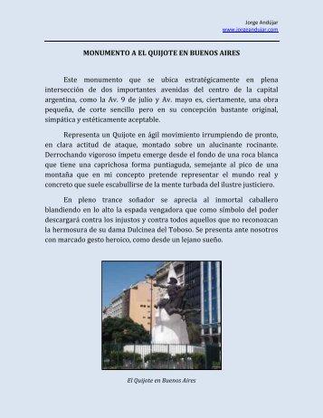 MONUMENTO A EL QUIJOTE EN BUENOS AIRES - jorge andujar