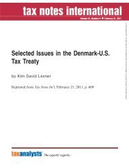 Selected Issues in the Denmark-U.S. Tax Treaty - Corit Academic