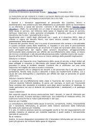 C'é crisi, cancellata la causa di servizio - CUB Piemonte