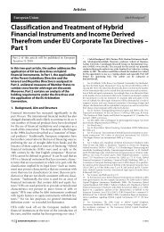 European Union – Classification and Treatment of ... - Corit Academic