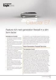 Clavister E7 Data Sheet
