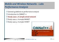 Mobile and Wireless Networks -‐ Labs Performance Analysis - GRC