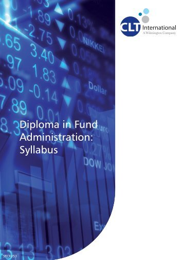 Diploma in Fund Administration: Syllabus