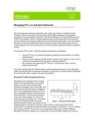 Managing PC's on Industrial Networks - Schneider Electric