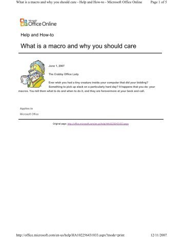 What is a macro and why you should care