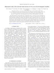 Ellipsometric study of the electronic band structure of CrO2 across ...