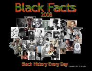 Black Facts 2008 Calendar - Shabazz Public School Academy