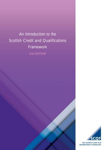 An Introduction to the Scottish Credit and Qualifications Framework