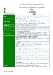 Scheda descrittiva Transnazionale Mediterraneo - Fondi Europei ...