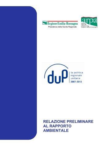 relazione preliminare al rapporto ambientale - Fondi Europei 2007 ...