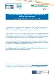 Programma - Fondi Europei 2007-2013