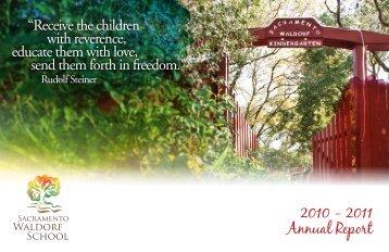 2010 - 2011 Annual Report - Sacramento Waldorf School