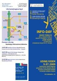 Programma giornata Udine 9 luglio - Fondi Europei 2007-2013