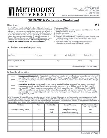 Printables Dependent Verification Worksheet v1 standard dependent verification worksheet 2016 17 intrepidpath 14 15 the best and most