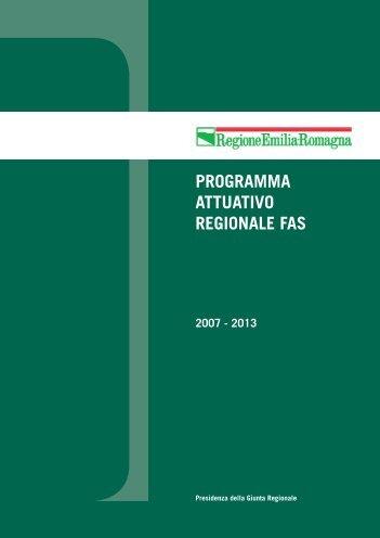programma attuativo regionale fas - Fondi Europei 2007-2013