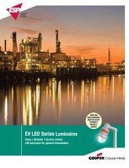 EV LED Series - Cooper Industries