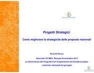 Progetti Strategici - Fondi Europei 2007-2013