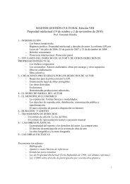 Máster G. Cult. Prog. y bibliografía 2010 - Carlos III Máster en ...