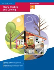 Home Heating and Cooling - Iowa Energy Center
