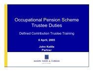 Occupational Pension Scheme Trustee Duties - Mason Hayes Curran