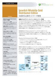 Ipswitch WhatsUp Gold Distributed Edition