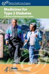 Medicines for Type 2 Diabetes - AHRQ Effective Health Care Program