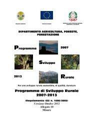 Programma di Sviluppo Rurale 2007-2013 - Consiglio regionale ...