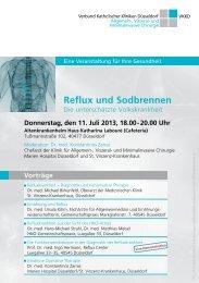 Reflux und Sodbrennen - Verbund Katholischer Kliniken Düsseldorf