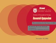 2011 Symposium Program - College of Health - University of Utah