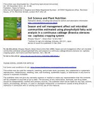 Season and soil management affect soil microbial communities ...