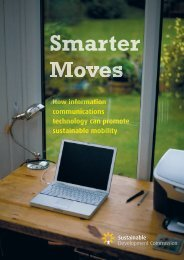 SDC Smarter Moves report - Sustainable Development Commission