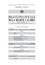 bollettinoufficiale della regione calabria - Bollettino Ufficiale (BURC)