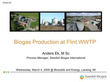 Biogas Production at Flint WWTP