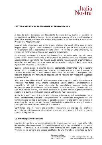 Lettera aperta a Pacher.pdf - Italianostra-trento.org