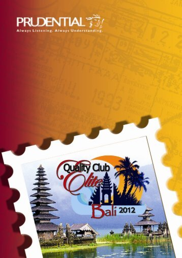Version 2 as of 25 June Page 1 of 17 - Prudential QCE 2012 Bali