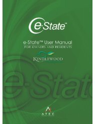 e-State™ User Manual- for Owners & Residents - e-StatePortal