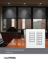 Sivoia® QS |shading solutions - Lutron