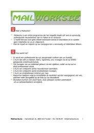 1 Wat is Mailworks? Mailworks is een online programma dat ... - Viva