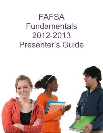 FAFSA Fundamentals - UCanGo2
